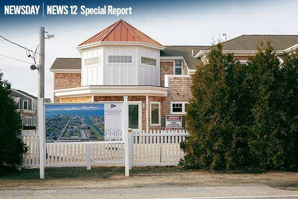 A 21-unit waterfront condominium project, Ponquogue Point, is