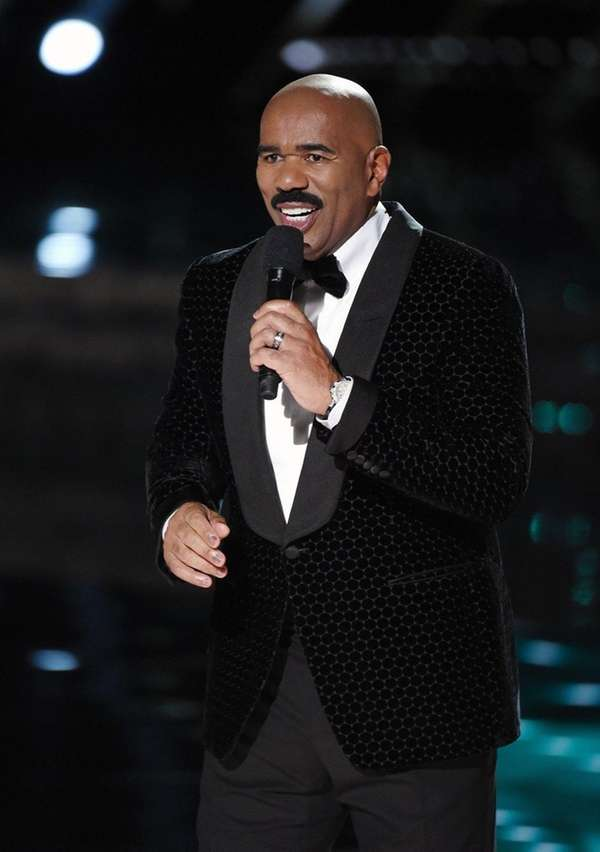 All is forgiven: TV personality Steve Harvey will