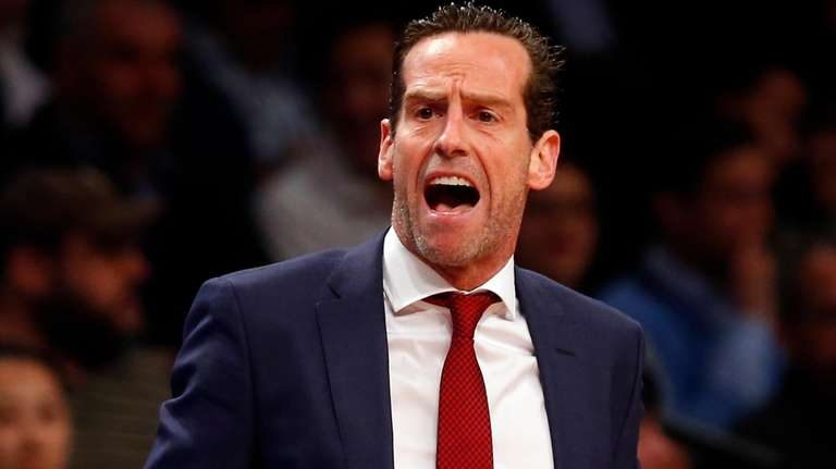 Head coach Kenny Atkinson of the Brooklyn Nets