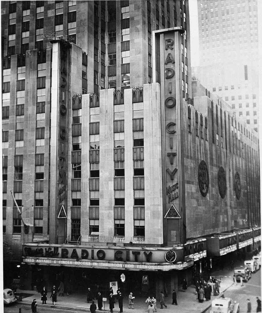 The radiant facade of Radio City Music Hall