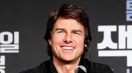 Tom Cruise at the news conference and photo-op