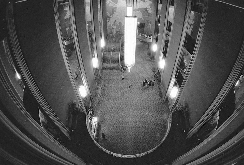 The main foyer of Radio City Music Hall
