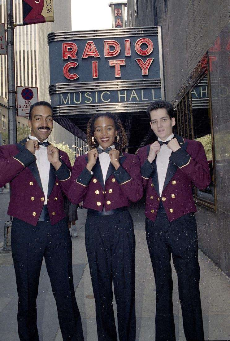 Radio City Music Hall pages, from left, Eric