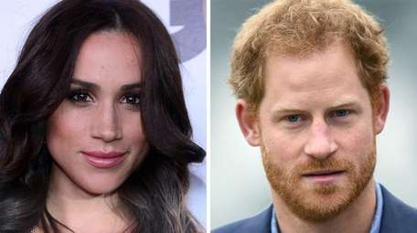 Meghan Markle, left, and Prince Harry confirmed their