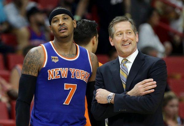 New York Knicks forward Carmelo Anthony (7) and