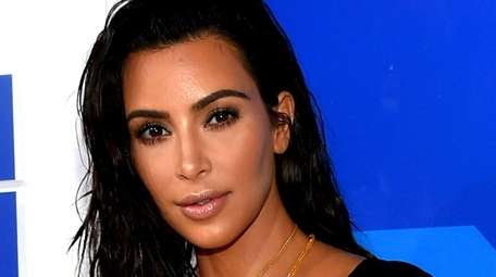 Kim Kardashian attended a party in Inglewood, Calif.,