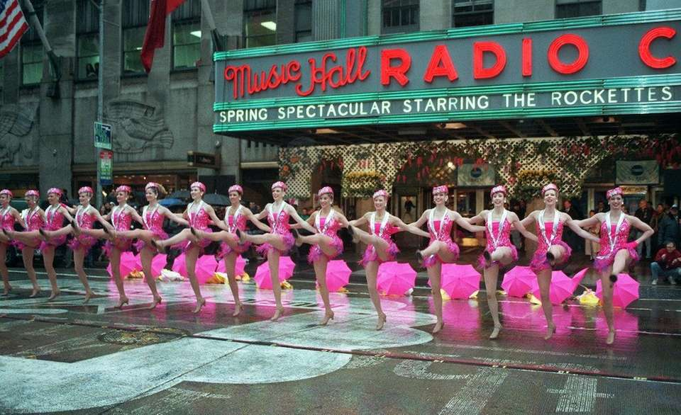 The Radio City Music Hall Rockettes use their
