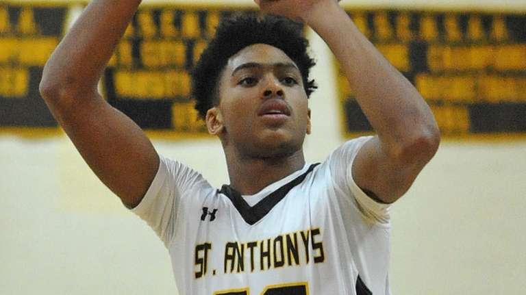 Tyrone Lyons of St. Anthony's drains a free