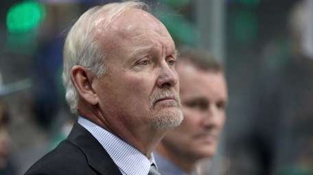 Head coach Lindy Ruff looks on as the