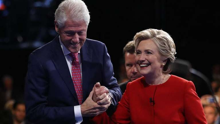 The Clintons after the first presidential debate at