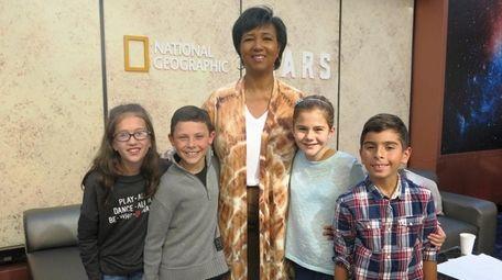 Former astronaut Mae Jemison met with Kidsday reporters