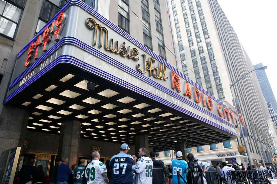 Fans line up outside Radio City Music Hall