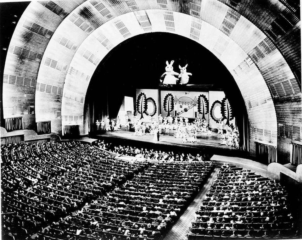 The interior of Radio City Music Hall at