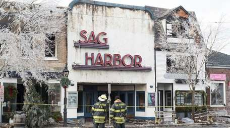 Chiefs from the Sag Harbor Fire Dept. look