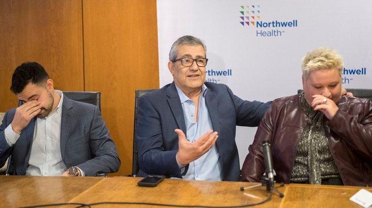 Kidney transplant recipient Albert Gabay sitting with his