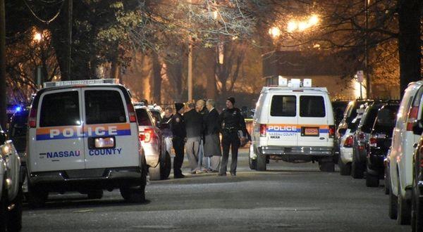 Nassau County police respond to a shooting scene