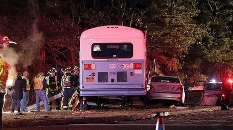 Two teenagers were killed when their car ran