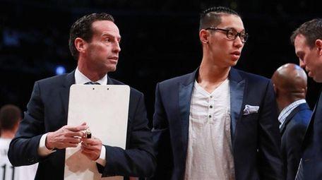 Jeremy Lin #7 of the Brooklyn Nets looks