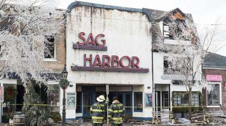 Chiefs from the Sag Harbor Fire Department look