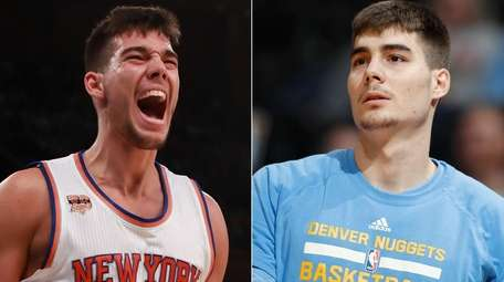 Knicks center Willy Hernangomez, left, and his brother,