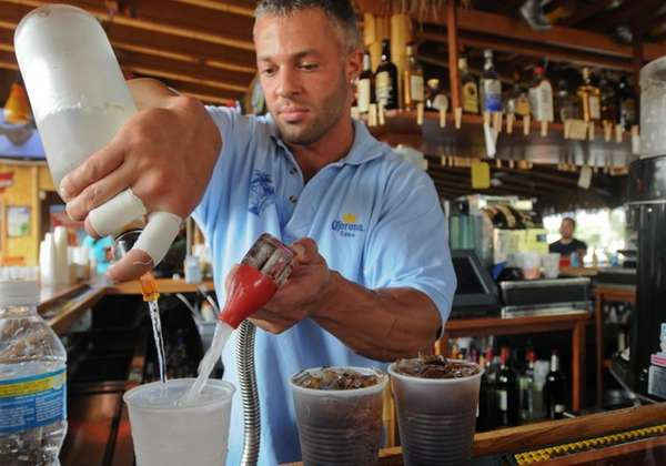 Patchogue, NY -- July 3, 2009 -- Bartender