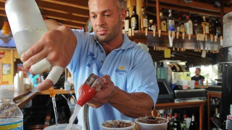 Patchogue, NY -- July 3, 2009 -- Bartender