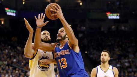 Joakim Noah of the New York Knicks goes