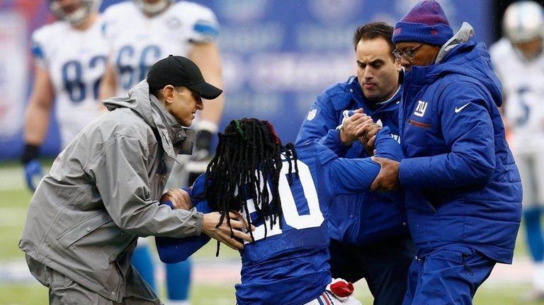 Janoris Jenkins of the New York Giants gets