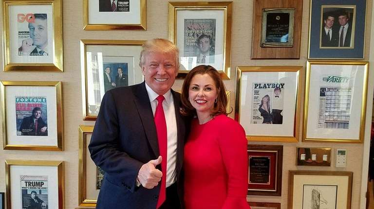Erin King Sweeney poses with President-Elect Donald Trump