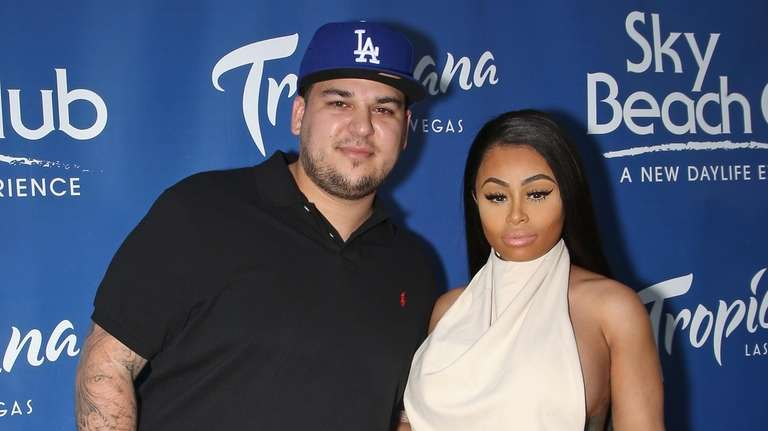 Rob Kardashian and Blac Chyna of E!'s