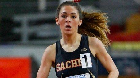 Sachem East's Lauren Harris running in the NYSPHSAA