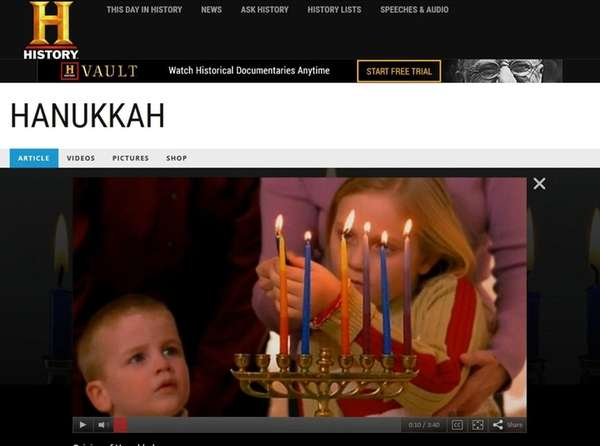 History Channel's website is one of many that
