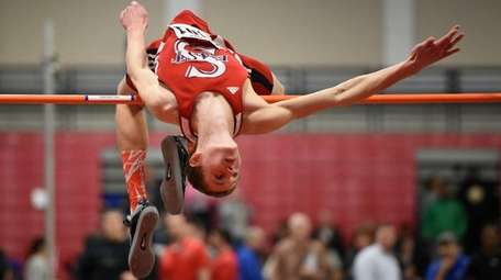 Smithtown East's Daniel Claxton clears 6 feet 10