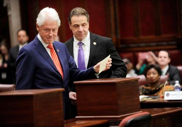 Former President Bill Clinton casts his New York