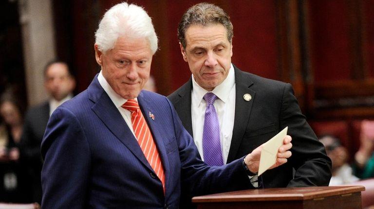 Former President Bill Clinton casts his New York