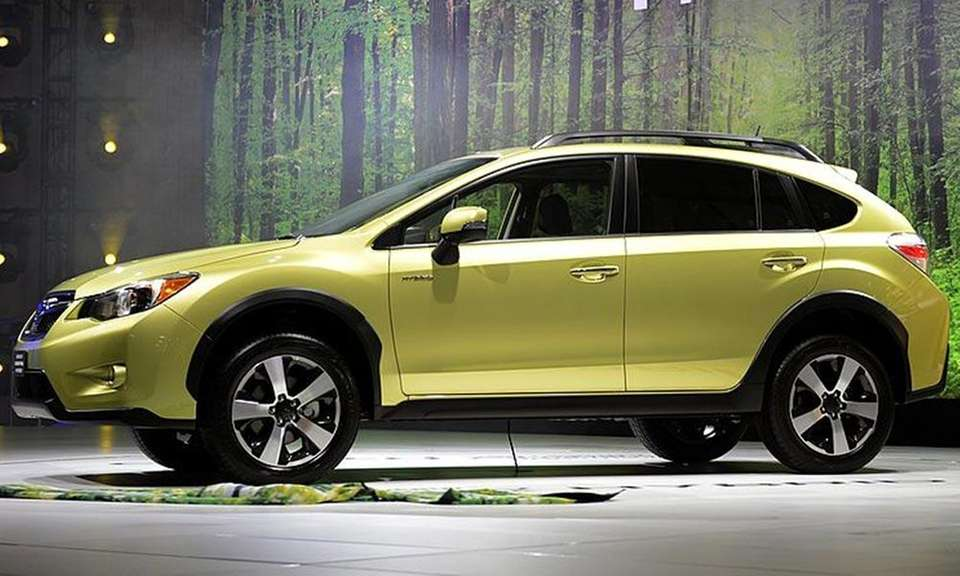 The Subaru Crosstrek, an updated version of the