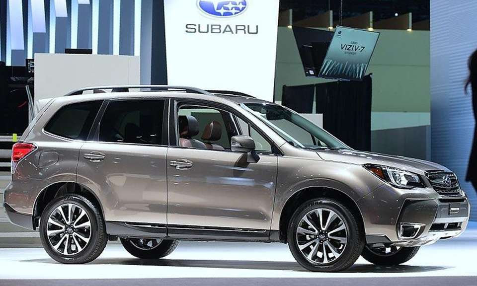 Subaru's small SUV, the Forester, ranked third among