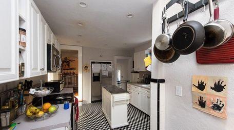 The kitchen in the Hanleys' Glen Cove house