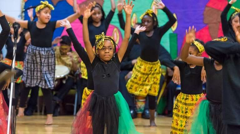 Members of the Kwanzaa Steppers during Kwanzaa Land.