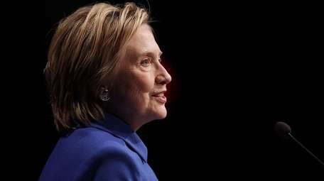 Former Secretary of State Hillary Clinton delivers remarks