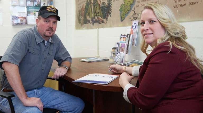 SCCC director of veterans affairs Shannon O'Neill sits