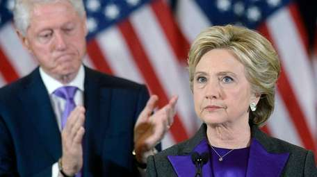 Presidential candidate Hillary Clinton delivers her concession speech
