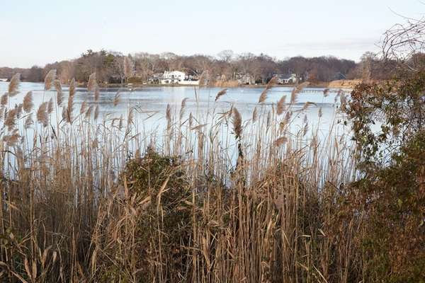 Patchogue Lake seen near Holbrook Road, a street
