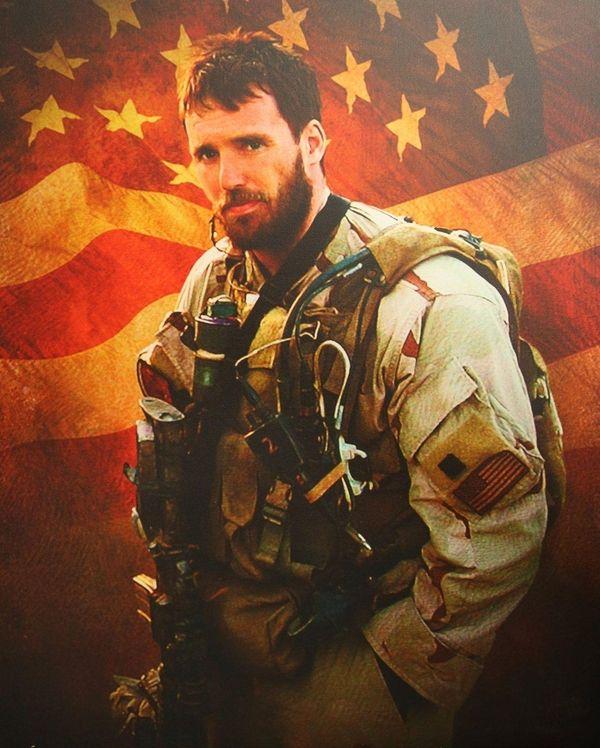 A portrait of Lt. Michael P. Murphy was