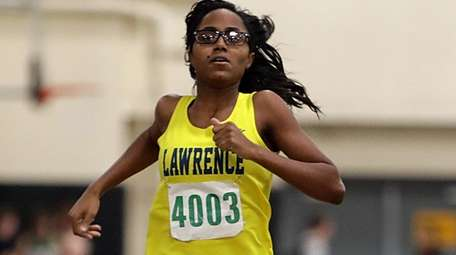 Lawrence's Jessica Bilbro placed first in the girls