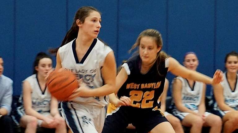 Lauren Hammersley, left, is leading Our Lady of
