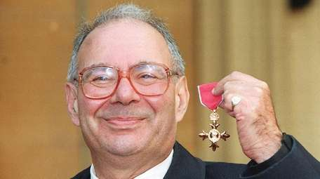 Lionel Blue after receiving his OBE at Buckingham