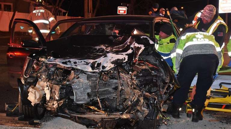 Suffolk County police said two drivers were taken