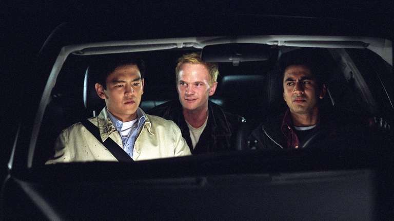 John Cho, left, Neil Patrick Harris and Kal