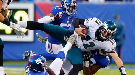 Carson Wentz #11 of the Philadelphia Eagles is